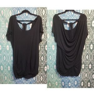 Torrid 2 black cowl back tunic